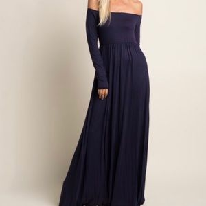 Pinkblush Navy Maxi Dress- can also be maternity